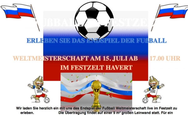 Public Viewing im Festzelt Havert